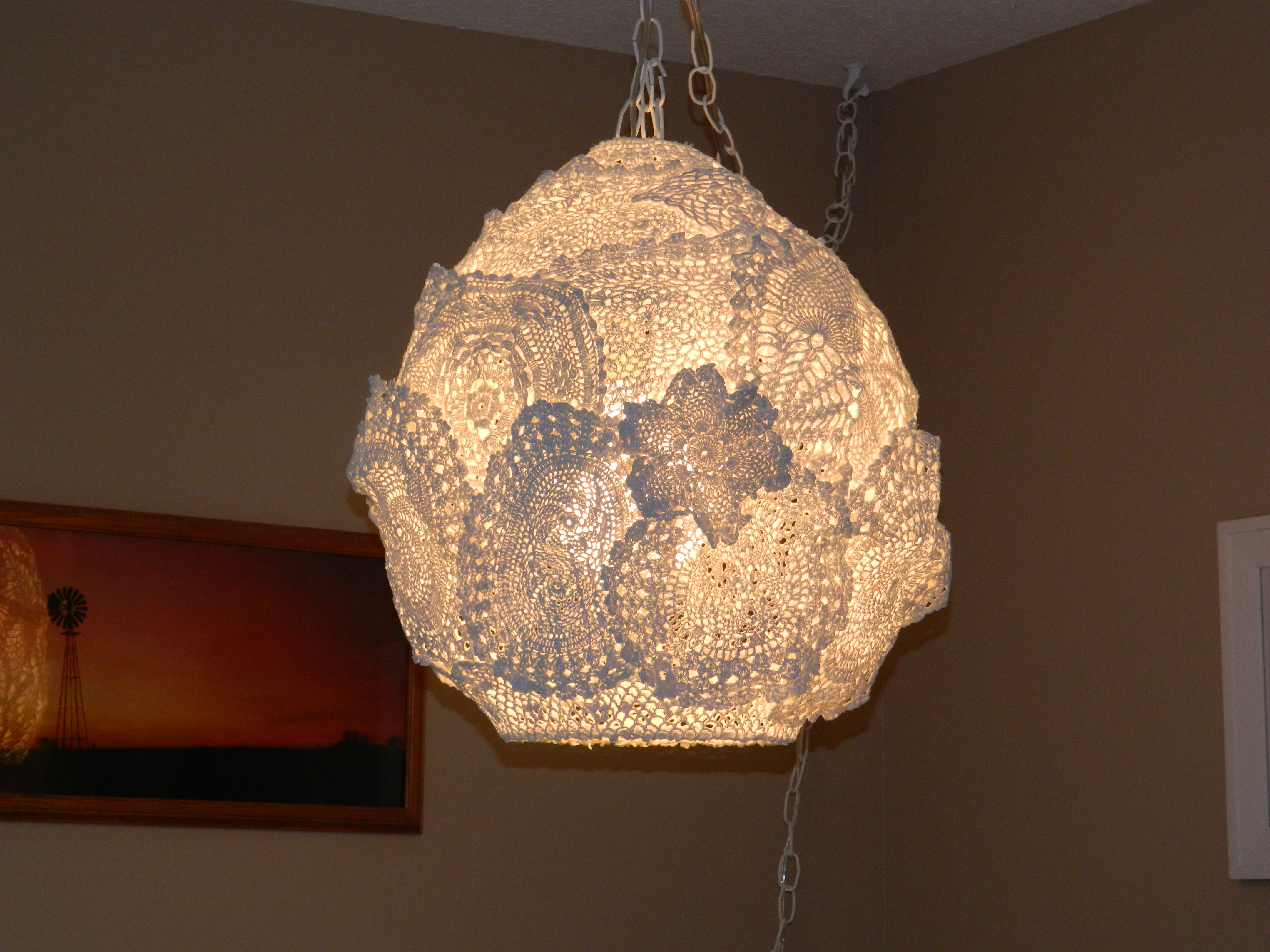 Doily swag lamp and notebook covers on my creative side felt notebook covers arubaitofo Image collections