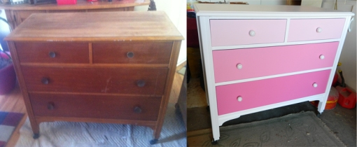 Dresser with Legs Before&After