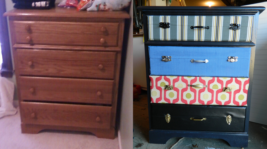 Creating a Suitcase Dresser: A Tutorial | On My Creative Side