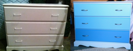 White Dresser Before&After
