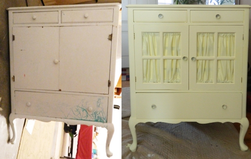 Yellow Armoire Before&After