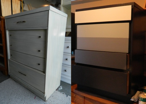 Green Dresser Before&After