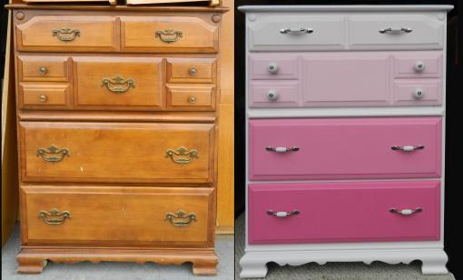Pink Dresser Before&After