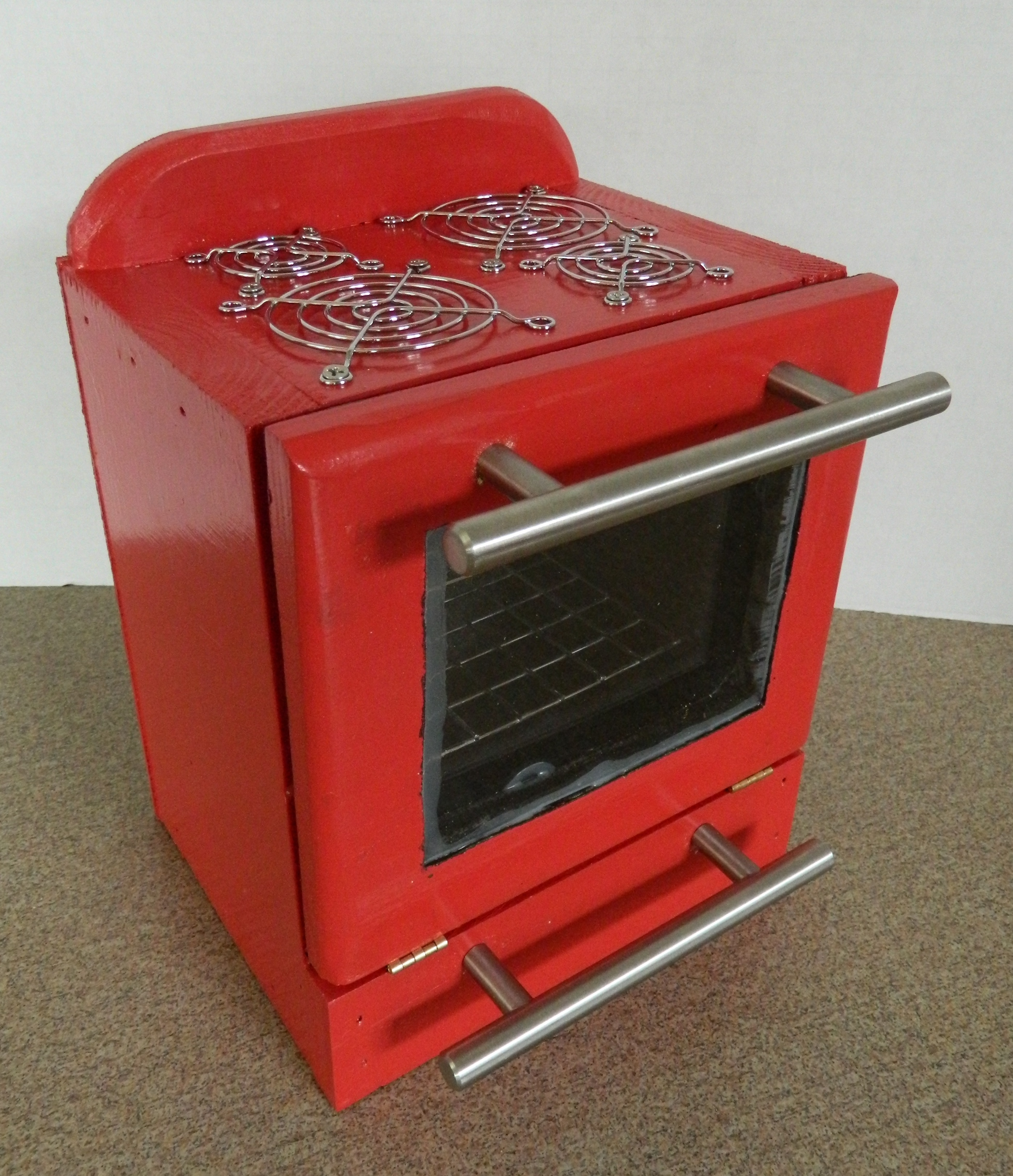 Doll House Appliances Kitchenaide Red Refrigerator And