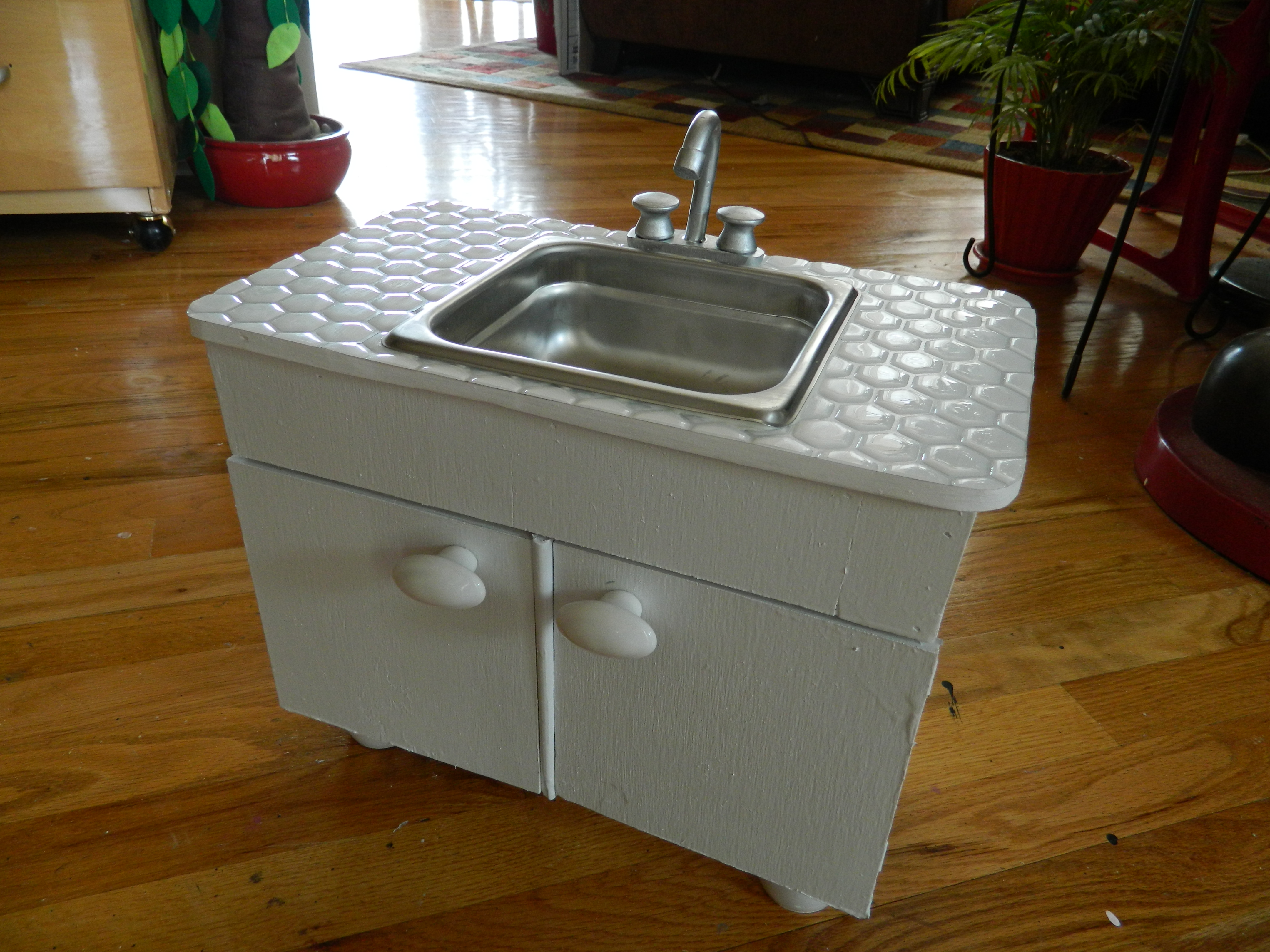 American Made Kitchen Sinks Doll House Sink Cabinet And The First Food Items On My Creative Side