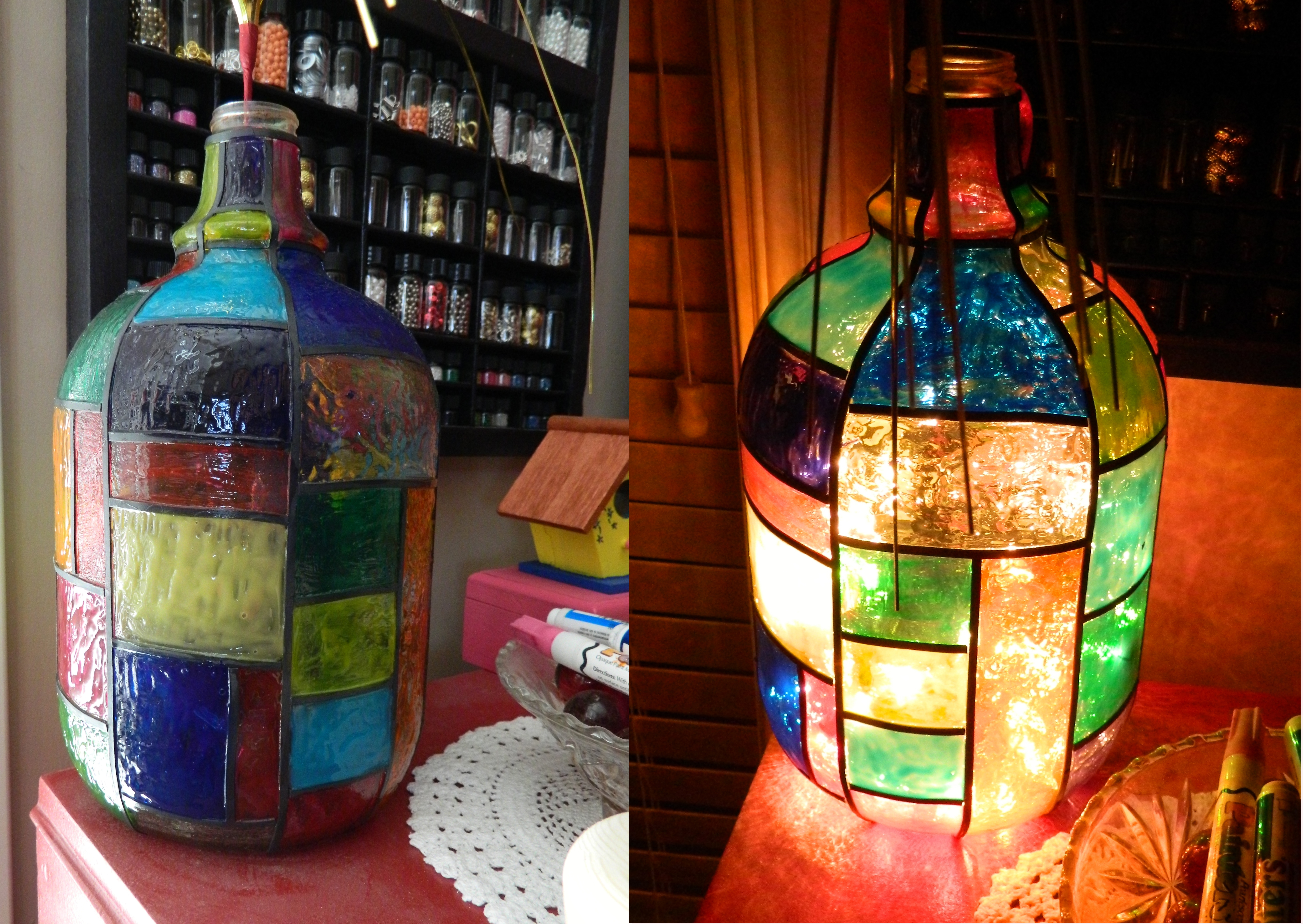 Gallery glass on my creative side for How to stain glass jars with paint