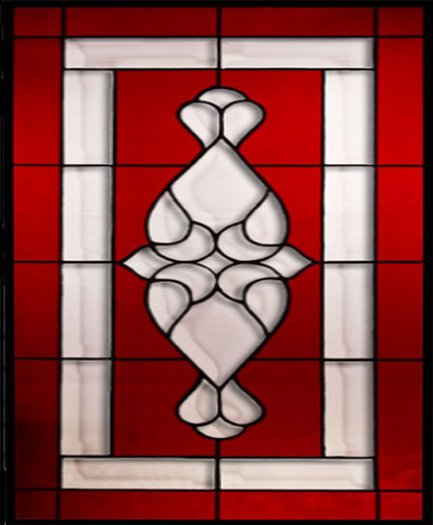 Red Stained Glass : The apple of my eye kitchen stained glass on