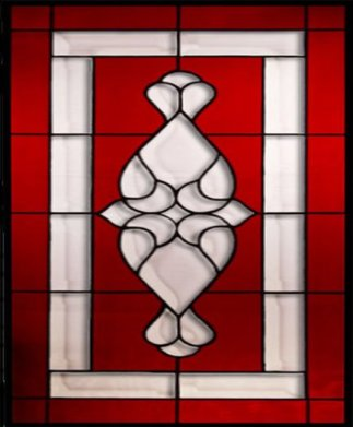 Stained Glass - Red & White Design_001
