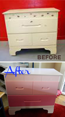 Dresser with Indent Handles