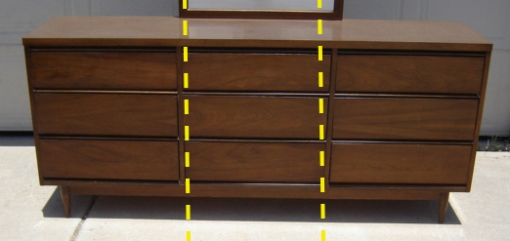 Dresser with Dotted Lines