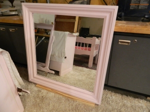 Square Pink Mirror