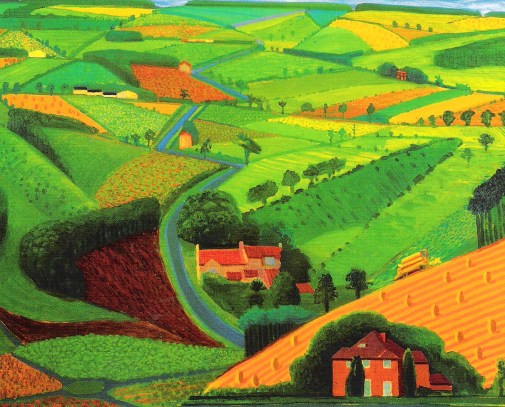 david-hockney-the-road-across-the-wolds-1997-oil-on-canvas