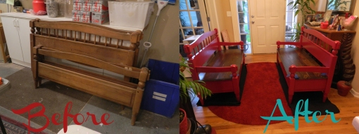 Before&After Red Benches