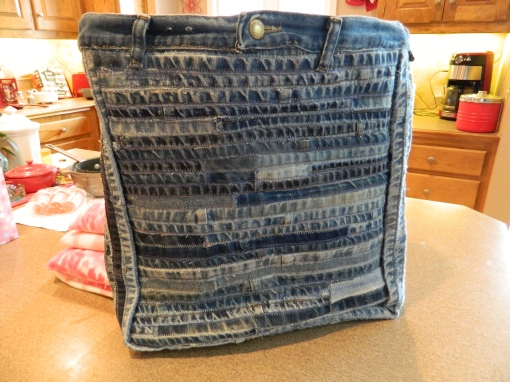 Front of Denim Hems Bag