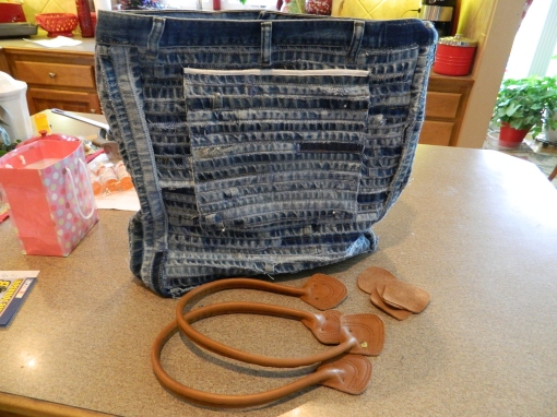 Back of Denim Hems Bag